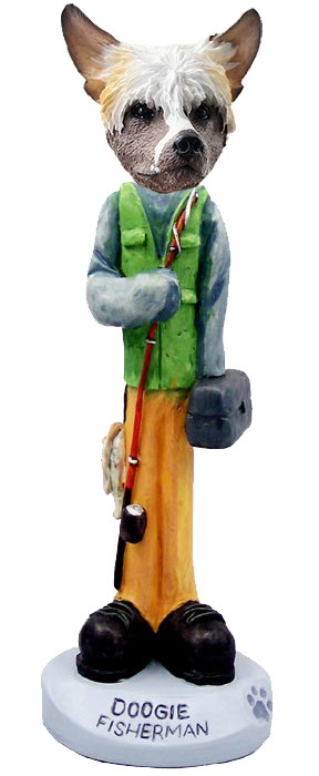 Chinese Crested Fisherman Doogie Collectable Figurine