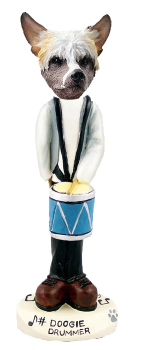 Chinese Crested Drummer Doogie Collectable Figurine