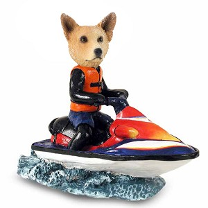 Australian Cattle Dog, RED Jet Ski Doogie Collectable Figurine