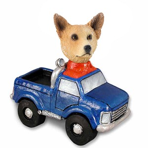 Australian Cattle Dog, RED Pickup Doogie Collectable Figurine