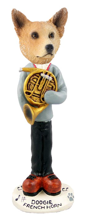 Australian Cattle Dog, RED French Horn Doogie Collectable Figurine