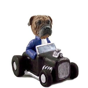 Bull Mastiff Hot Rod Doogie Collectable Figurine