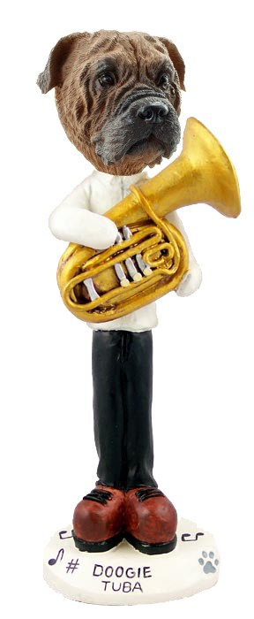 Bull Mastiff Tuba Doogie Collectable Figurine