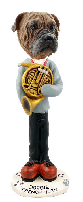 Bull Mastiff French Horn Doogie Collectable Figurine