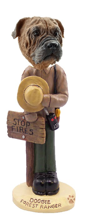 Bull Mastiff Forest Ranger Doogie Collectable Figurine