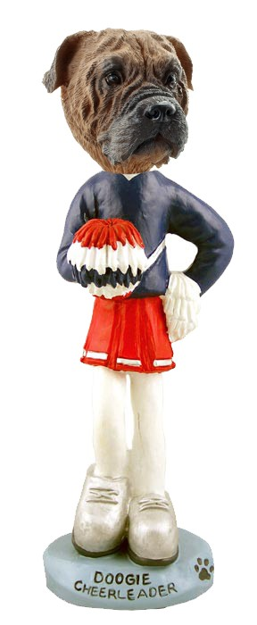 Bull Mastiff Cheerleader Doogie Collectable Figurine