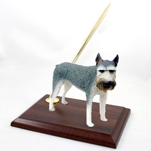 Schnauzer Giant Gray Pen Set