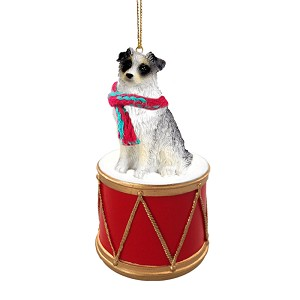 Australian Shepherd Blue Drum Ornament