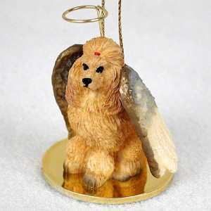 Poodle Apricot Pet Angel Ornament