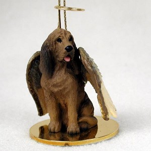 Bloodhound Pet Angel Ornament