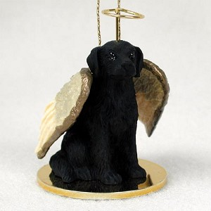 Flat Coated Retriever Pet Angel Ornament