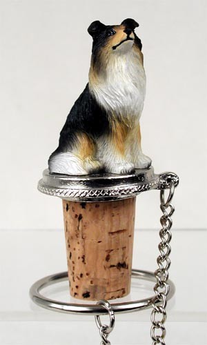 Collie Tricolor Bottle Stopper