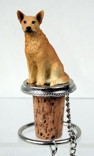 Australian Cattle Red Dog Bottle Stopper