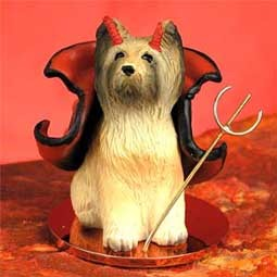 Briard Devilish Pet Figurine