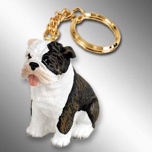 Bulldog Brindle Key Chain