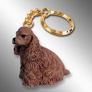 Cocker Spaniel Brown Key Chain