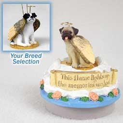 Jack Russell Terrier Black & White w/Smooth Coat Candle Topper Tiny One Pet Angel Ornament