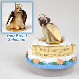Cocker Spaniel English Blonde Candle Topper Tiny One Pet Angel Ornament