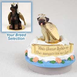 Doberman Pinscher Red w/Cropped Candle Topper Tiny One Pet Angel Ornament