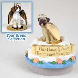 Brittany Brown & White Spaniel Candle Topper Tiny One Pet Angel Ornament