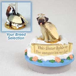 Basset Hound Candle Topper Tiny One Pet Angel Ornament