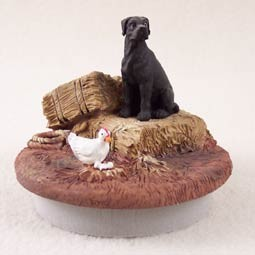 "Great Dane Black w/Uncropped Ears Candle Topper Tiny One ""A Day on the Farm"""