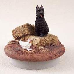 "Bouvier des Flandres Candle Topper Tiny One ""A Day on the Farm"""