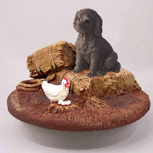 "Labradoodle Chocolate Candle Topper Tiny One ""A Day on the Farm"""