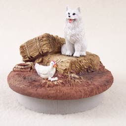 "Samoyed Candle Topper Tiny One ""A Day on the Farm"""