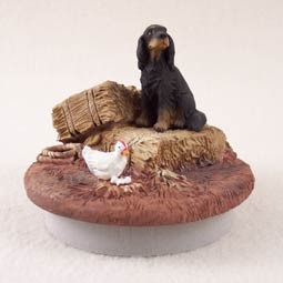 "Gordon Setter Candle Topper Tiny One ""A Day on the Farm"""