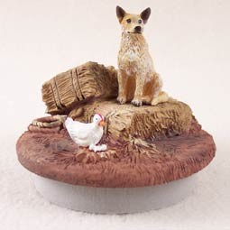 "Australian Cattle Red Dog Candle Topper Tiny One ""A Day on the Farm"""