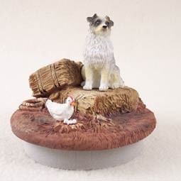 "Australian Shepherd Blue Candle Topper Tiny One ""A Day on the Farm"""