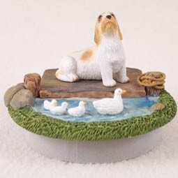 Petit Basset Griffon Vendeen Candle Topper Tiny One 'A Day on the Lake'