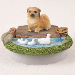 "Tibetan Spaniel Candle Topper Tiny One ""A Day on the Lake"""