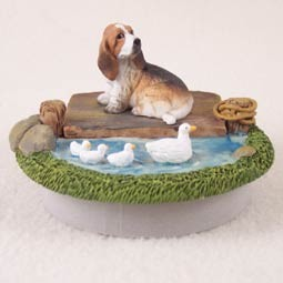 "Basset Hound Candle Topper Tiny One ""A Day on the Lake"""
