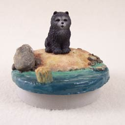 "Chow Blue Candle Topper Tiny One ""A Day on the Beach"""