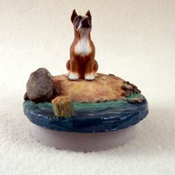 "Boxer Candle Topper Tiny One ""A Day on the Beach"""