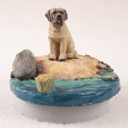 "Mastiff Candle Topper Tiny One ""A Day on the Beach"""