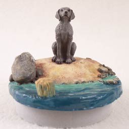 "Weimaraner Candle Topper Tiny One ""A Day on the Beach"""