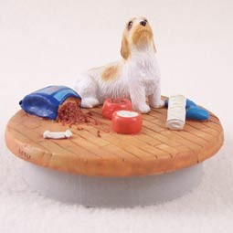 "Petit Basset Griffon Vendeen Candle Topper Tiny One ""A Day at Home"""