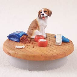 Beagle Candle Topper Tiny One 'A Day at Home'