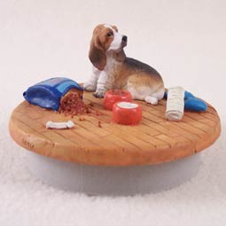 "Basset Hound Candle Topper Tiny One ""A Day at Home"""