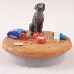 "Weimaraner Candle Topper Tiny One ""A Day at Home"""