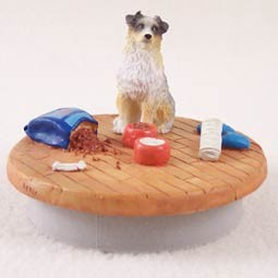 "Australian Shepherd Blue w/Docked Tail Candle Topper Tiny One ""A Day at Home"""
