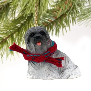 Lhasa Apso Gray Original Ornament