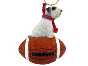Sealyham Terrier Football Ornament