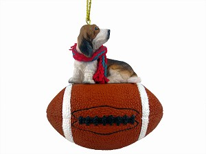 Basset Hound Football Ornament