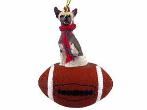 Chinese Crested Dog Football Ornament