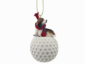 Basset Hound golf Ornament