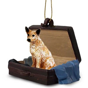 Australian Cattle Red Dog Traveling Companion Ornament